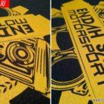 Copbaju#Istimewa Cetakan Gold Baju Endah Sari Motorsport